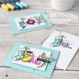 Tag Buffet Christmas Cards to spell out words using the images. Stocking, Bauble, Candy Canes and foliage by Mikaela Titheridge, UK Independent Stampin' Up! Demonstrator, The Crafty oINK Pen. Buy your Stampin' Up! Products through my online store 24/7. Use my Shopping Code at checkout for personal rewards from me. Can be found here on my Blog.