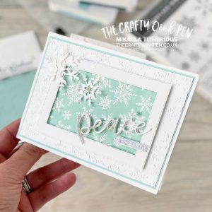 Stampin' Up! Winter Snow Embossing Folder for the Stamping Sunday Textures hop by Mikaela Titheridge, UK Independent Stampin' Up! Demonstrator, The Crafty oINK Pen. Buy your Stampin' Up! Products through my online store 24/7. Use my Shopping Code at checkout for personal rewards from me. Can be found here on my Blog.