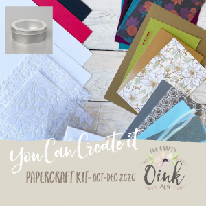 Buy your You Can Create it Papercraft Kit here with Mikaela Titheridge, Independent Stampin' Up! Demonstrator, The Crafty oINK Pen.