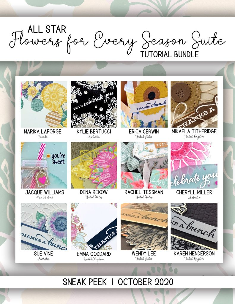 Buy the All Star Tutorial Bundle here. Flowers for Every Season and I'm using Celebrate Sunflowers by Mikaela Titheridge, UK Independent Stampin' Up! Demonstrator, The Crafty oINK Pen. Buy your Stampin' Up! Products through my online store 24/7. Use my Shopping Code at checkout for personal rewards from me. Can be found here on my Blog.