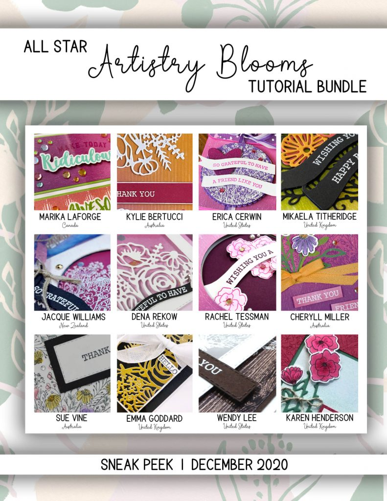 All Star Tutorial Bundle Using Stampin' Up! Artistry Bloom Suite and a trio of colours by Mikaela Titheridge, UK Independent Stampin' Up! Demonstrator, The Crafty oINK Pen. Buy your Stampin' Up! Products through my online store 24/7. Use my Shopping Code at checkout for personal rewards from me. Can be found here on my Blog.