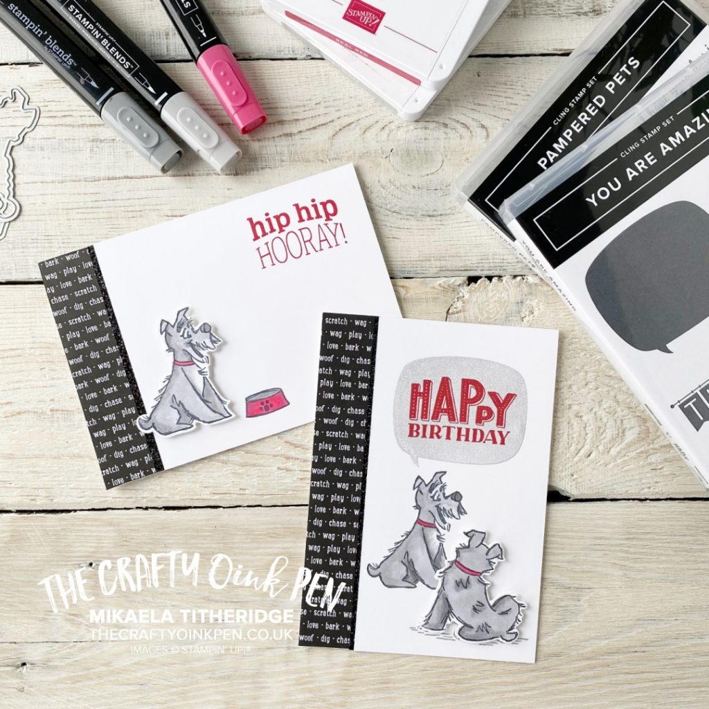 You Are Amazing my Pampered Pets. Something Old, Something New for a set of Masculine Birthday Cards by Mikaela Titheridge, UK Independent Stampin' Up! Demonstrator, The Crafty oINK Pen. Buy your Stampin' Up! Products through my online store 24/7. Use my Shopping Code at checkout for personal rewards from me. Can be found here on my Blog.