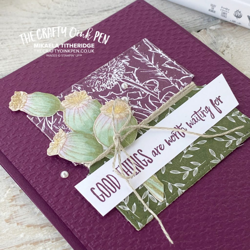 Enjoy the Moment handmade greetings card using Stampin' Up! Products