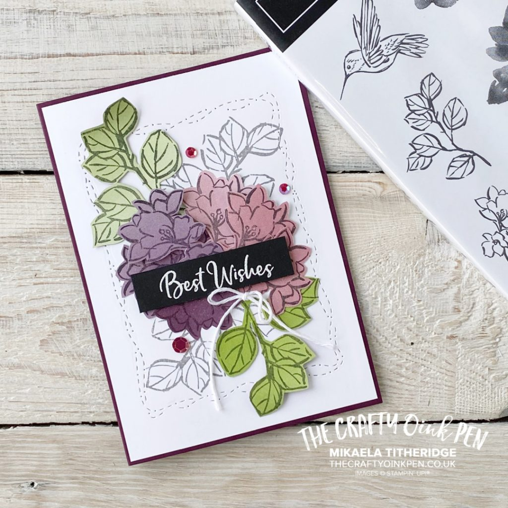 Handmade Greetings Card using Stampin' Up! Products A Touch of Ink Free from Sale-a-Bration 2021