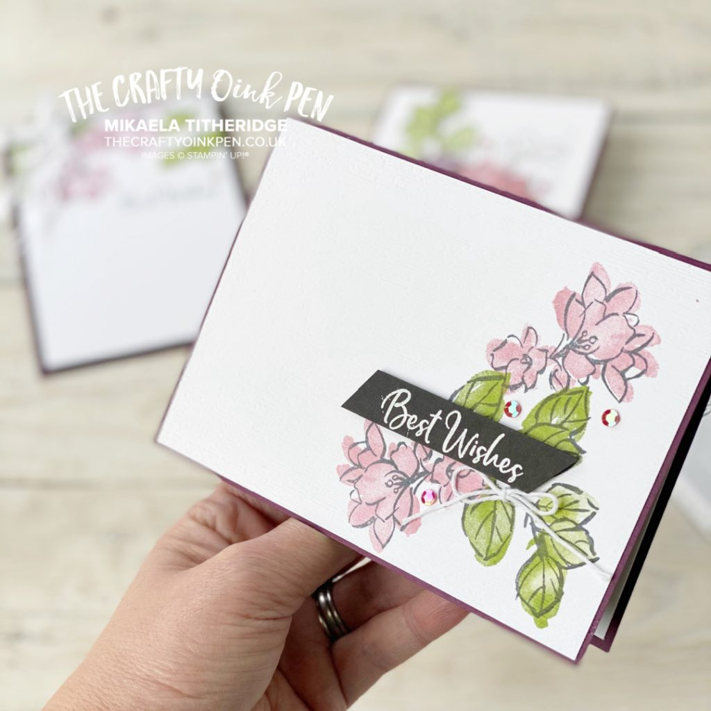 Handmade Greetings Card using Flowers from A Touch of Ink Free Stamp Set