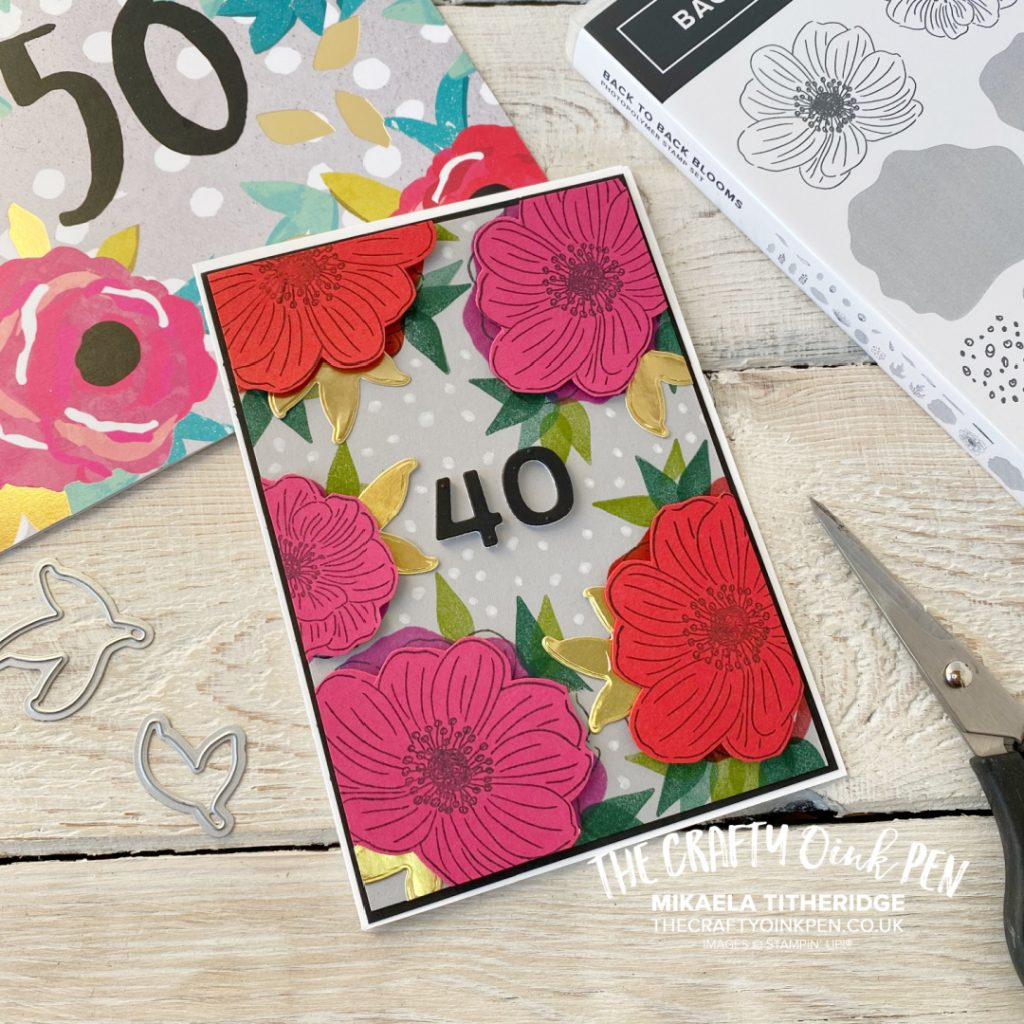 Handmade Card taking inspiration from another. Using Florals from Back to Back Blooms Stamp set. Bright and Vibrant