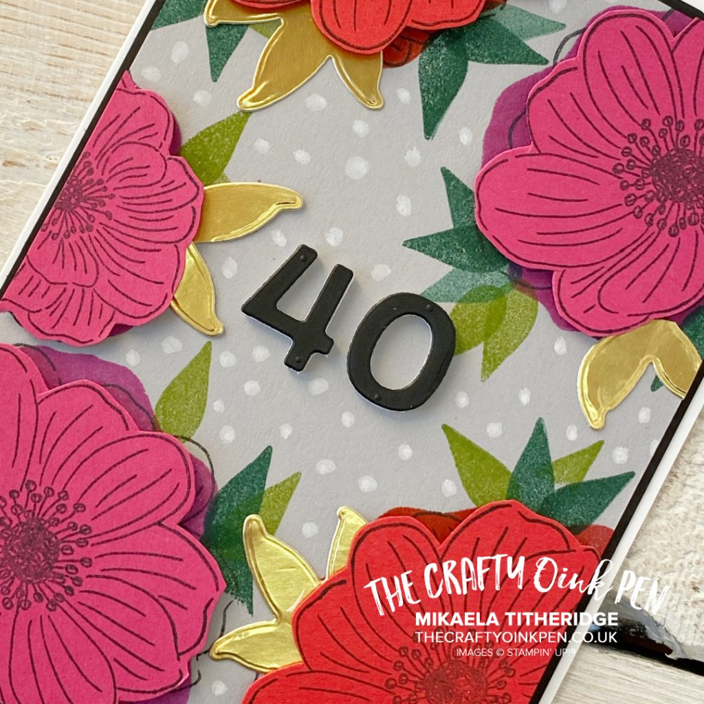 Handmade Card using Back to Back Blooms from Stampin' Up! Bright Florals