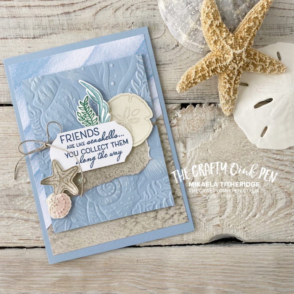 Handmade Greetings Card using Stampin' Up! Products from Sand and Sea and Friends are like Seashells. Beach, Seaside images.