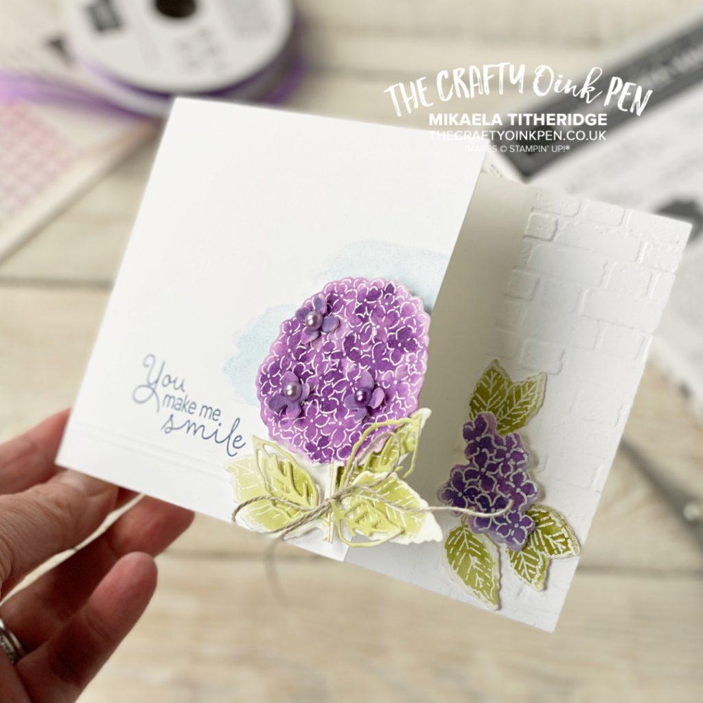 Greetings Card using Hydrangea Hill