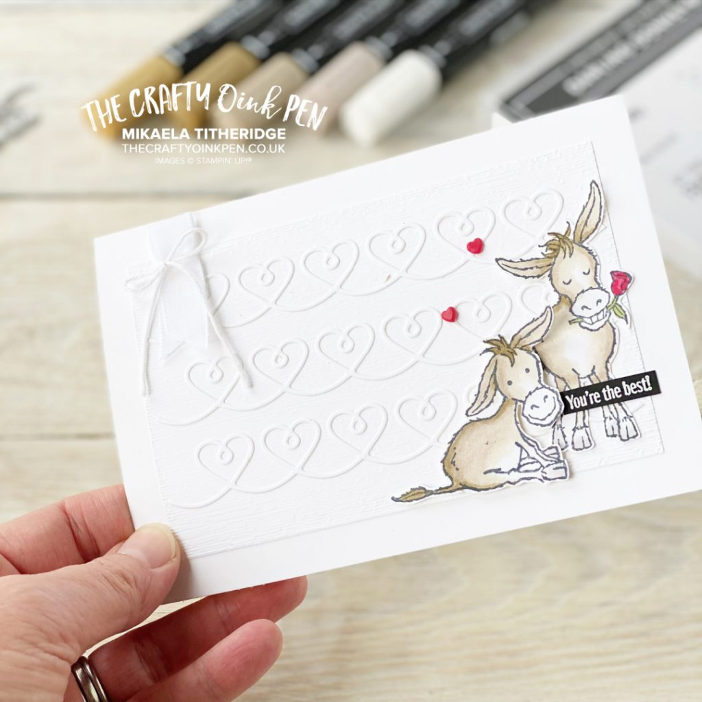 Love Darling Donkeys Free Stamp Set for making a cute greetings card