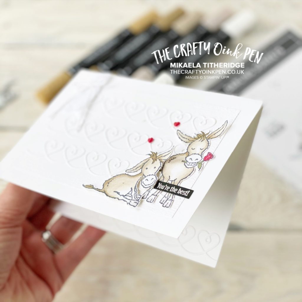 Darling Donkeys for a Love baby greetings card