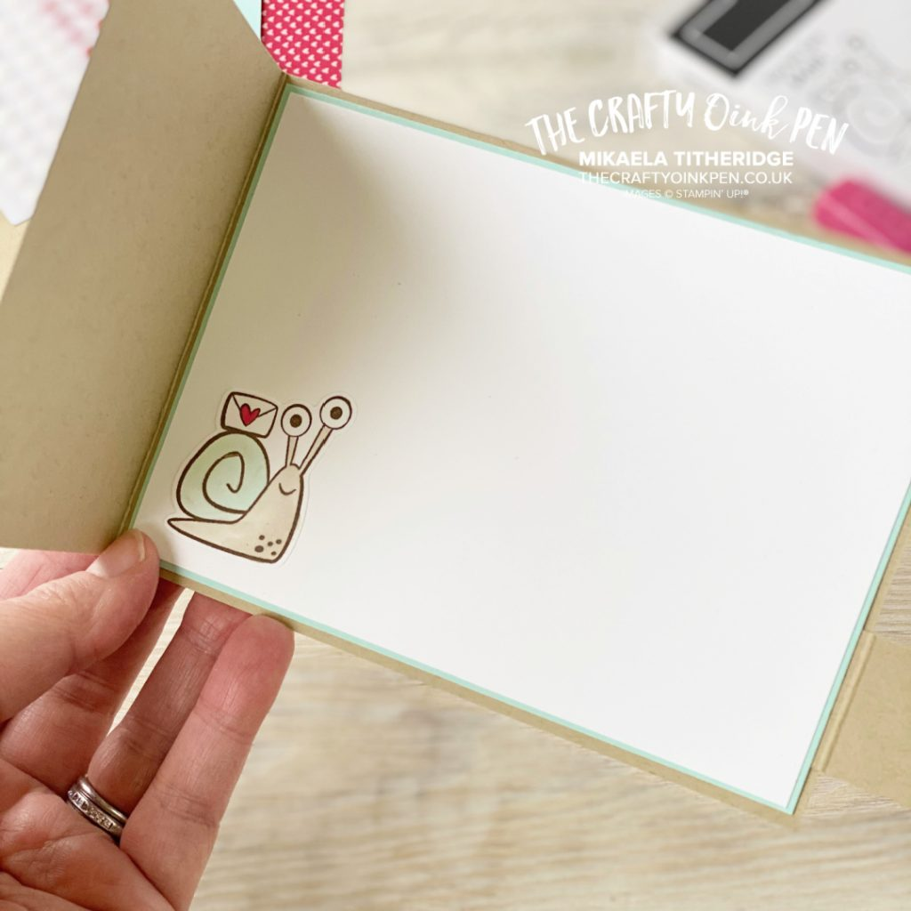 Snail Mail stamp and die used for this valentines card