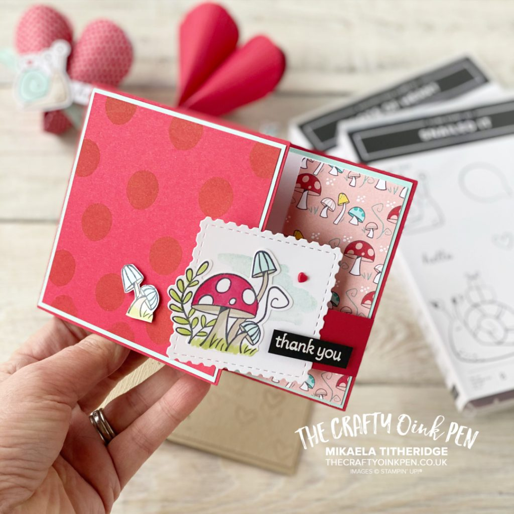 Snailed it stamp set with toadstool help create this little card
