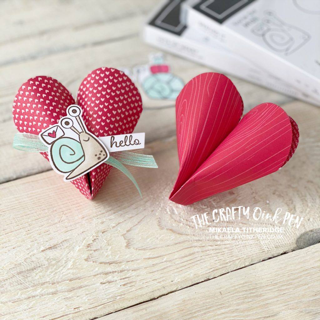 Love heart treat pouches Origami fold love heart table gifts