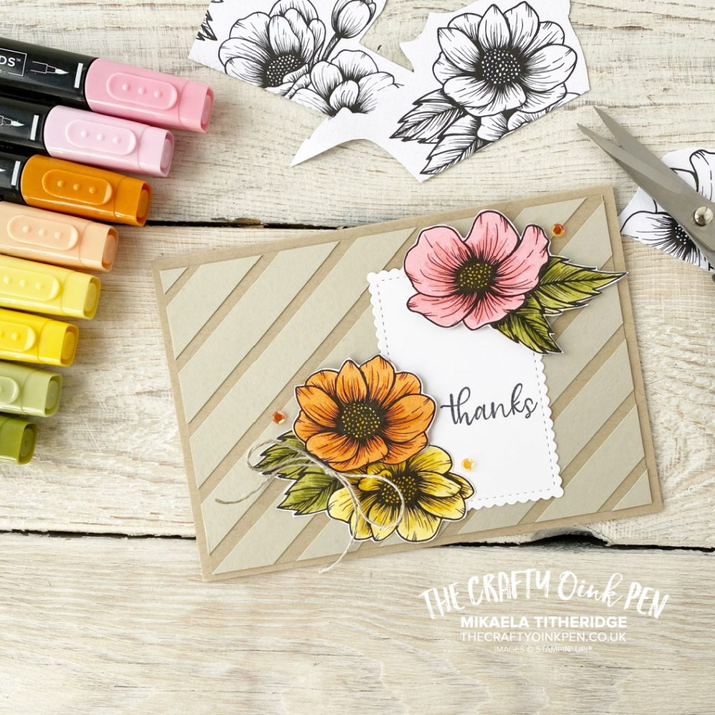 True Love Flowers coloured with Blends Alcohol Pens for a Thank you card