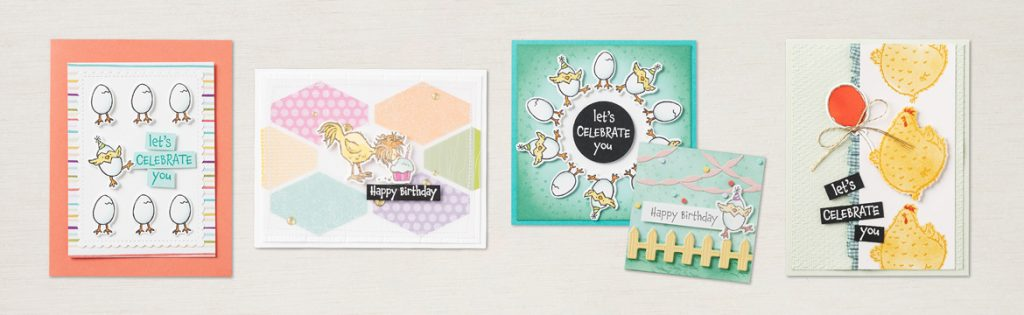 Hey Chick chickens Greetings Cards