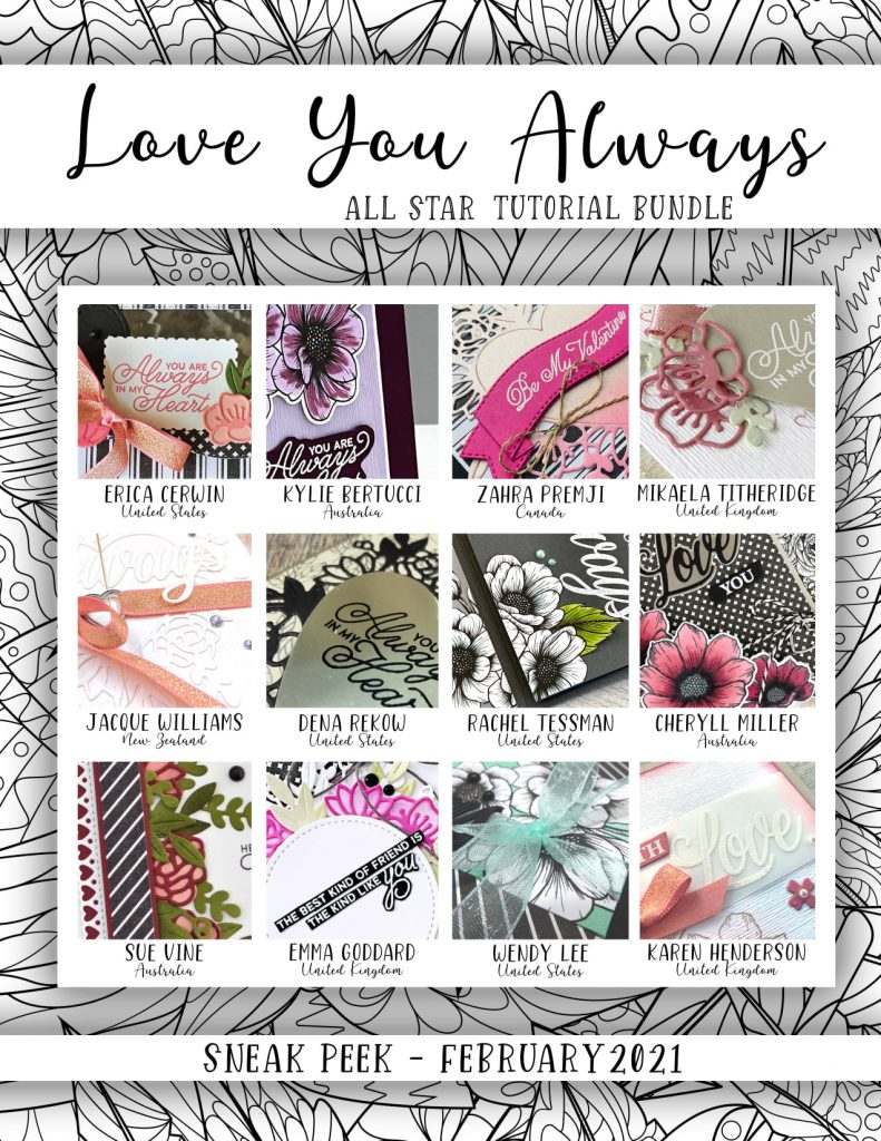 All Star Tutorial Bundle for February 2021 using Love you Always by Stampin up
