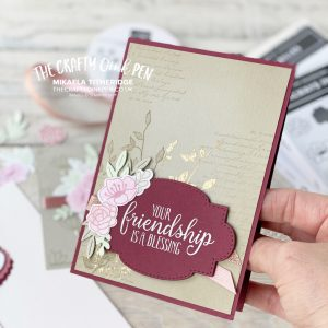 Handmade card made to look vintage like with flowers