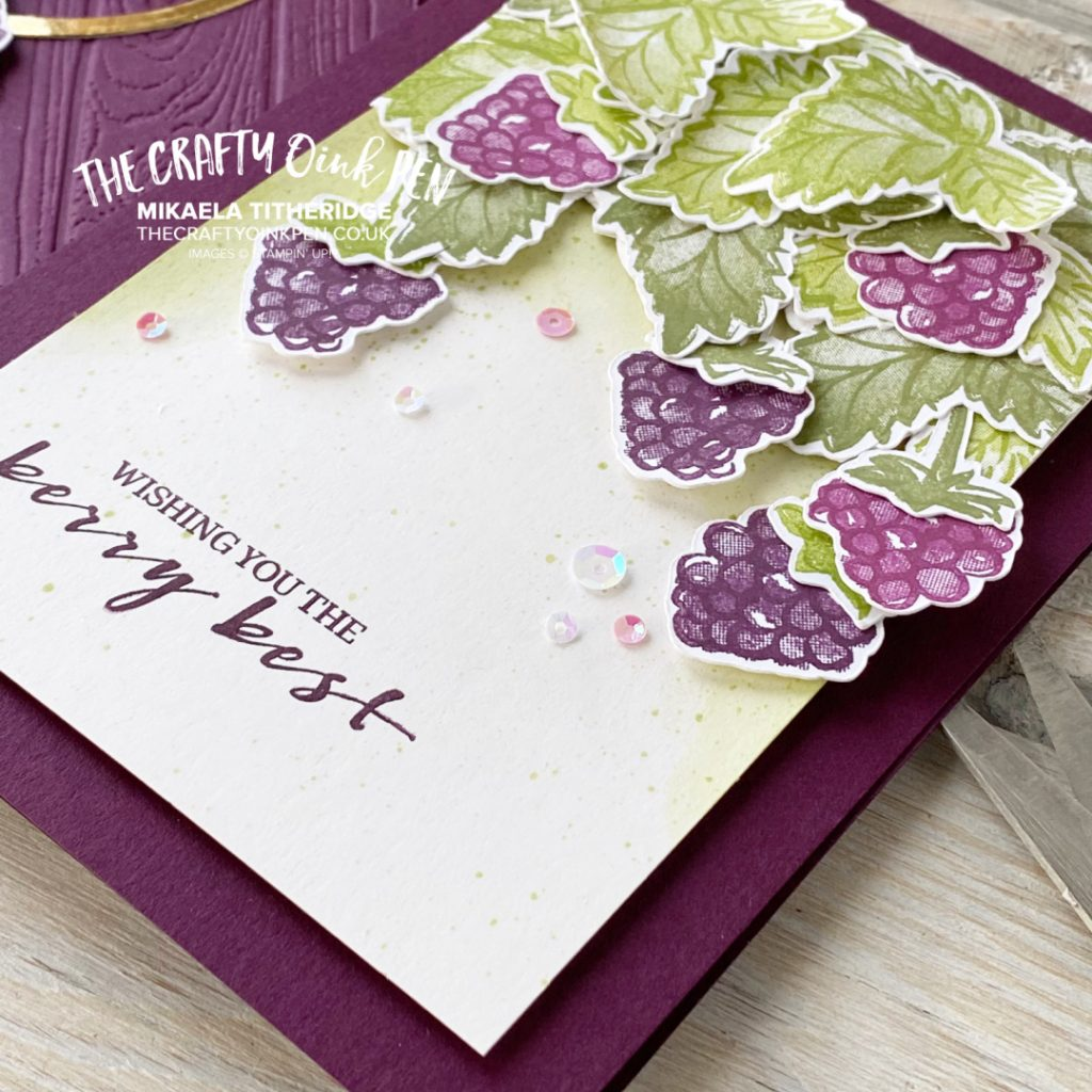 Handmade card using Free set Berry Blessings blackberries and razzleberries