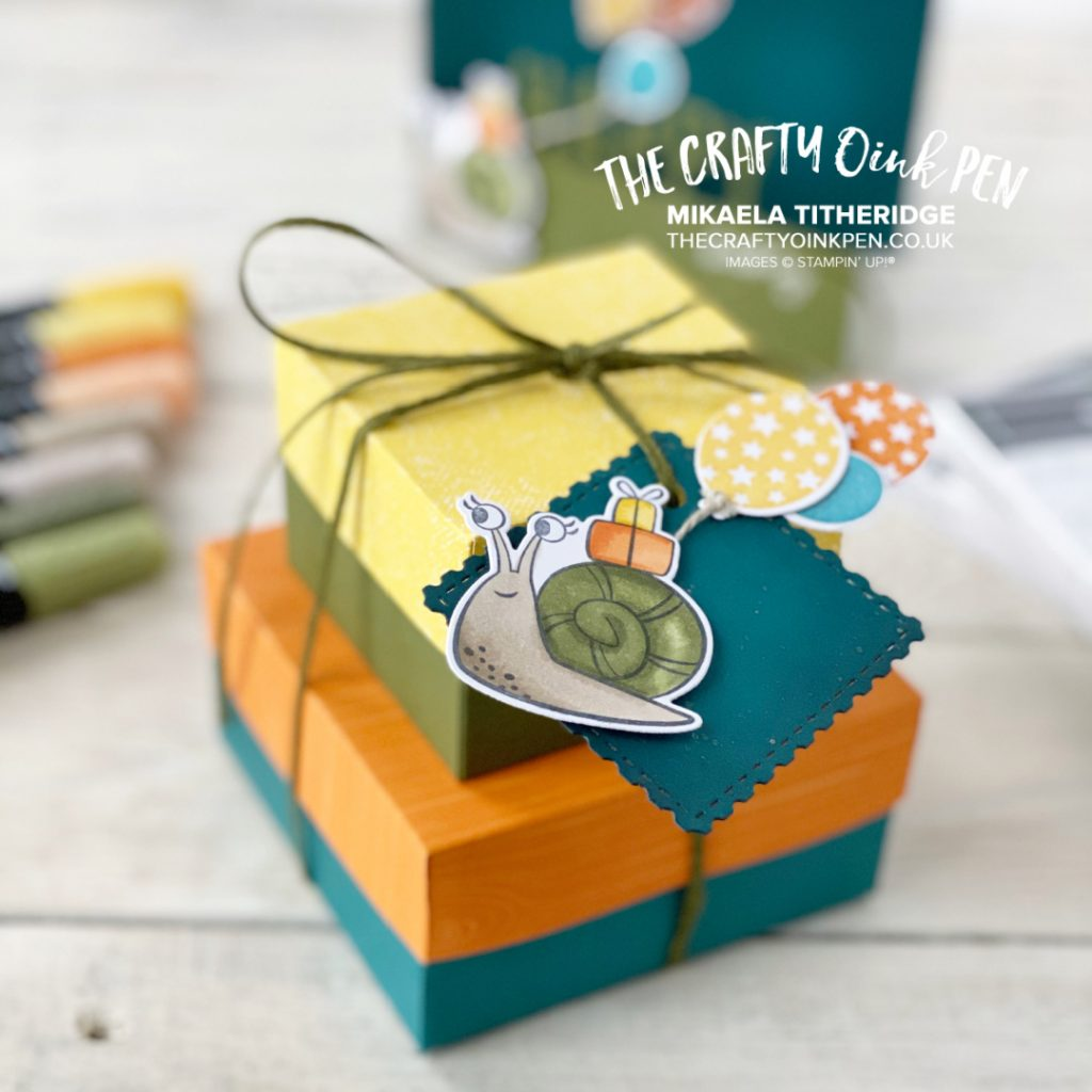 Cute Critters help create this oh so happy gift box set with Snailed it