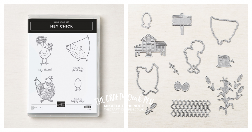 Hey Chick Stamp set and Dies from Stampin' Up! Chickens and coup