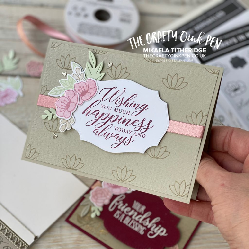 Handmade card for a Birthday with flowers from Love you always suite by Stampin' Up!