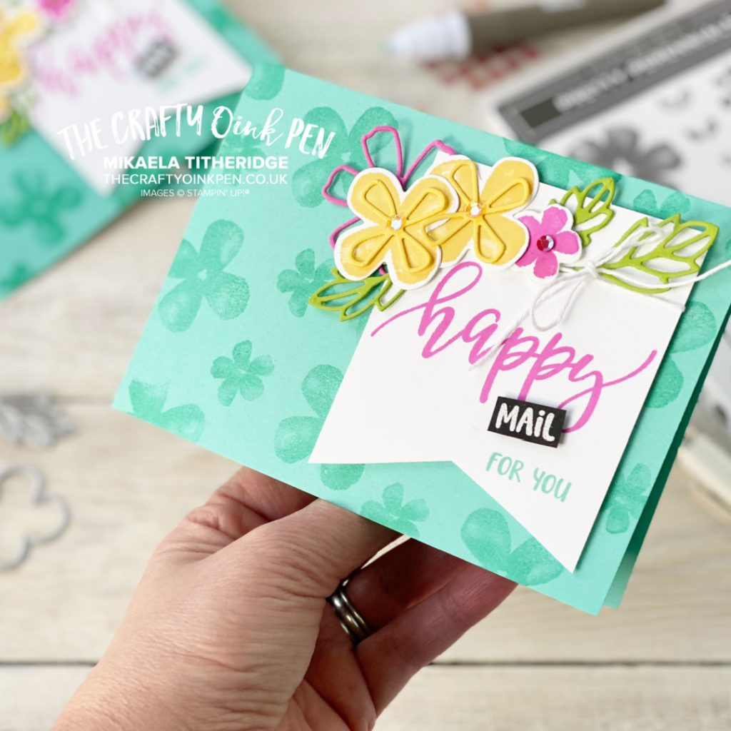You've Got Mail with this handmade greetings card using Pretty Perennials flowers