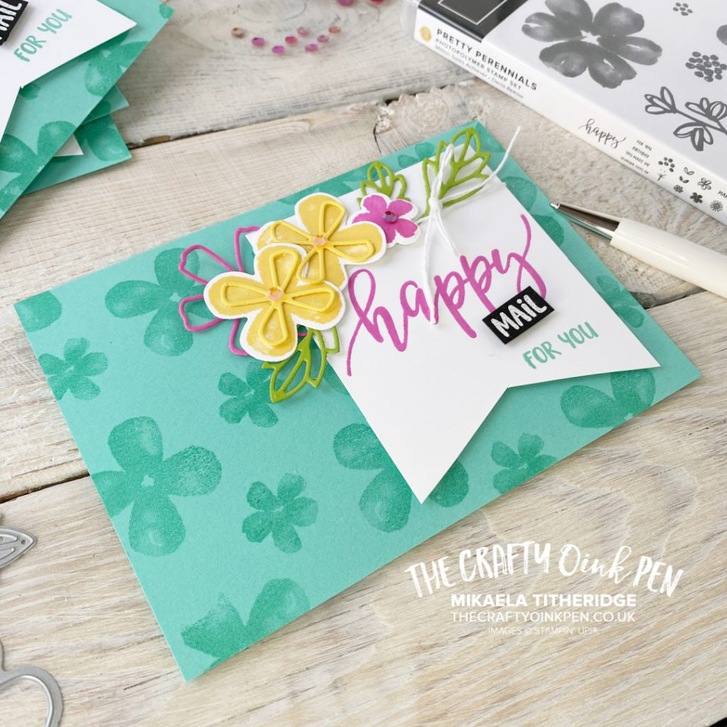 You've Got Mail with this Handmade Greetings Card using Pretty Perennials sunny flowers