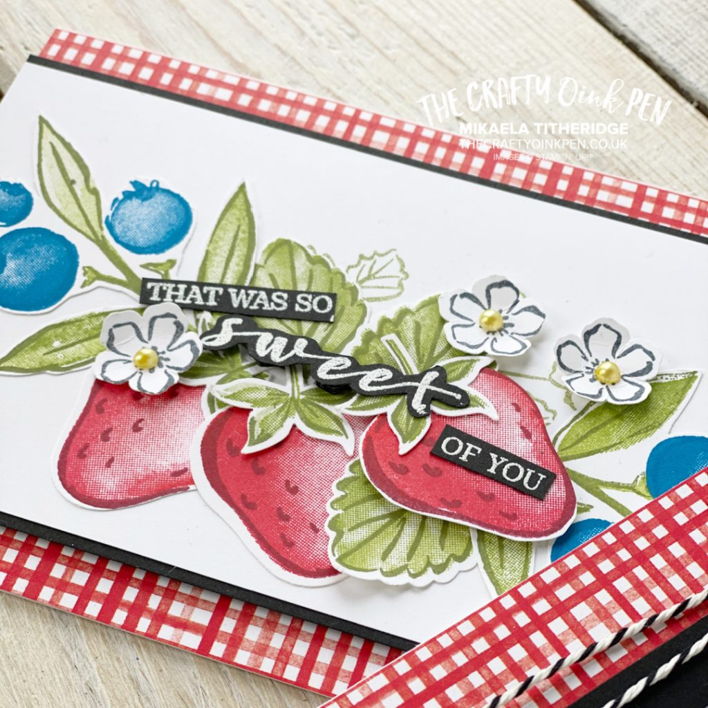 Handmade card using Sweet Strawberry and Berry Blessings