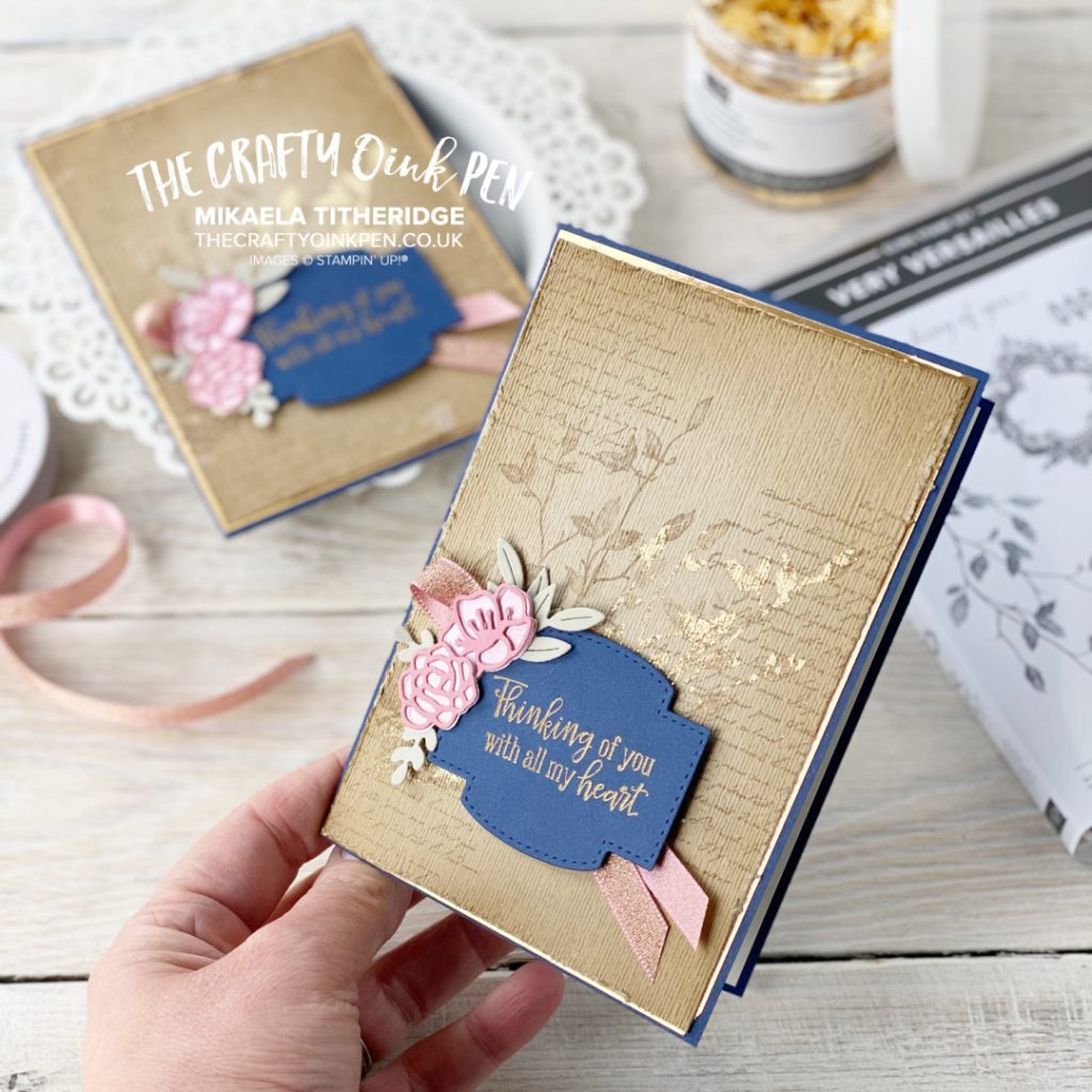 Thinking of you card using love you always suite and very versailles