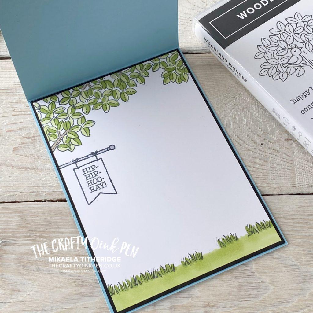 Handmade Birthday Card using Stampin' Up! Woodland Wonder using a tree and cute animals