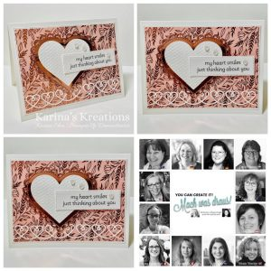 Handmade Greetings Card with Heart for You can create it