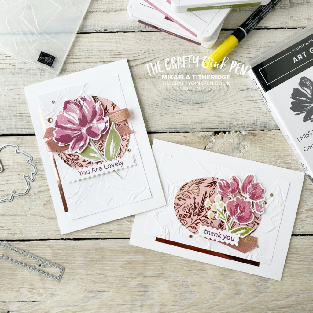 Handmade cards using You Can Create it and this beautiful flower