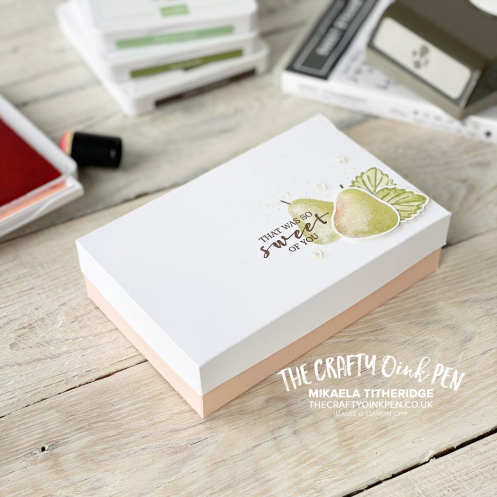 Handmade Box of Notecards and Tags using Sweet Strawberry and creating Pears 3D Projects