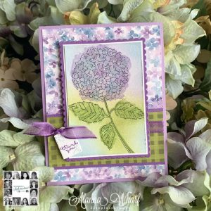 Handmade card using Hydrangea Hill suite by Stampin' Up! and the You Can Create it Papercraft Kit