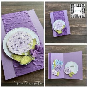 Handmade card using Hydrangea Hill Suite for You Can Create it Papercraft kit