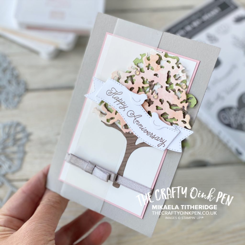Stampin' Creative Sketch Challenge using Beauty of the Earth Tree Dies and Always in my Heart