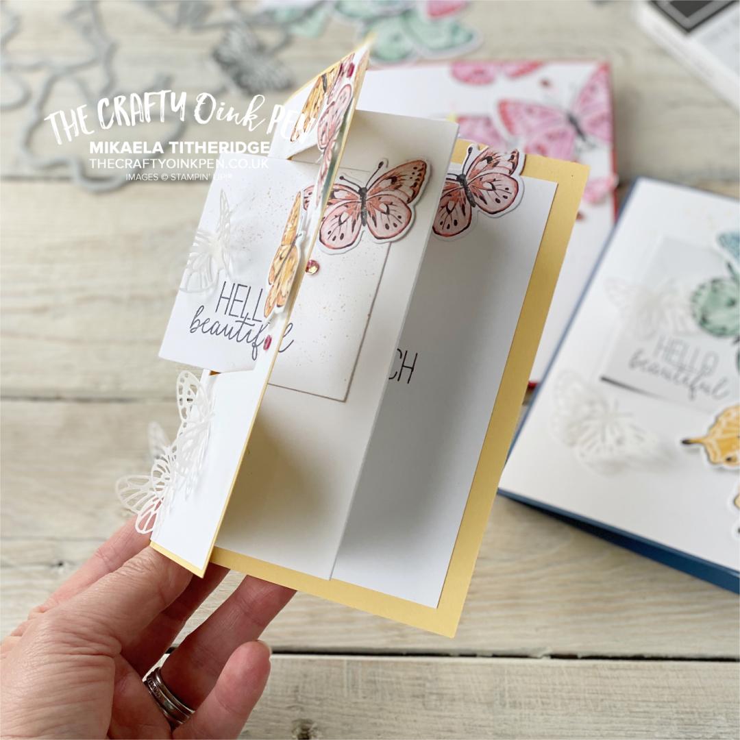 Fancy Fold Swing Card using Butterfly Brilliance