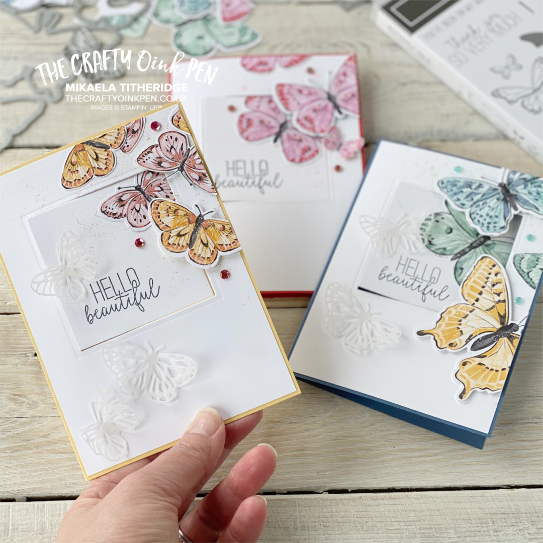 Butterfly Brilliance cards for a swing card