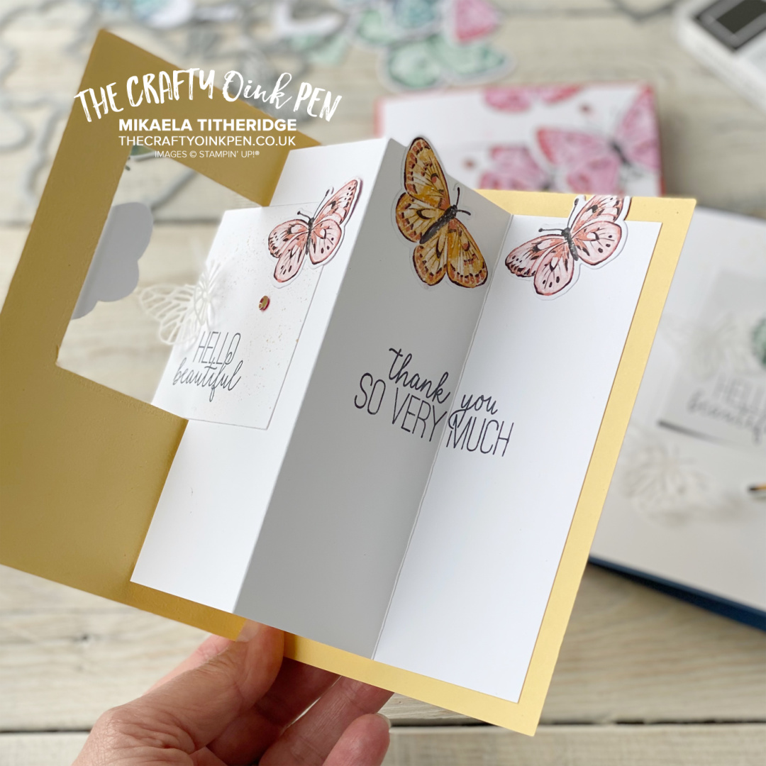 swing card using Butterfly Brilliance and Butterfly Gala