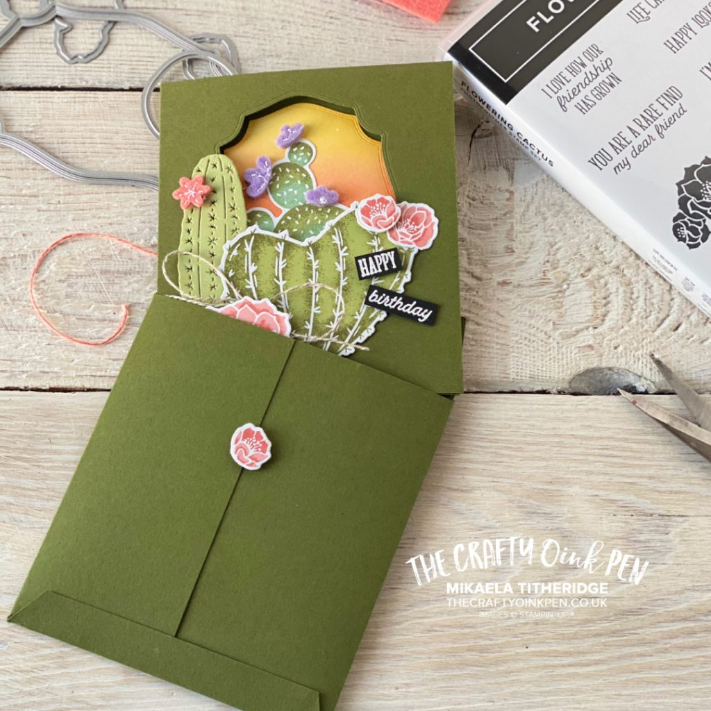 Stampin' Up! Product Medley, Flowering Cactus and a Tri-fold card made by Mikaela Titheridge for the All Star Tutorial Blog Hop