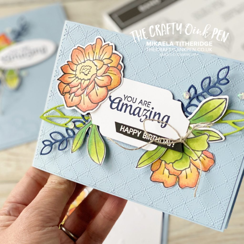Stampin' Up! Band Together and colour with Blends Handmade Card