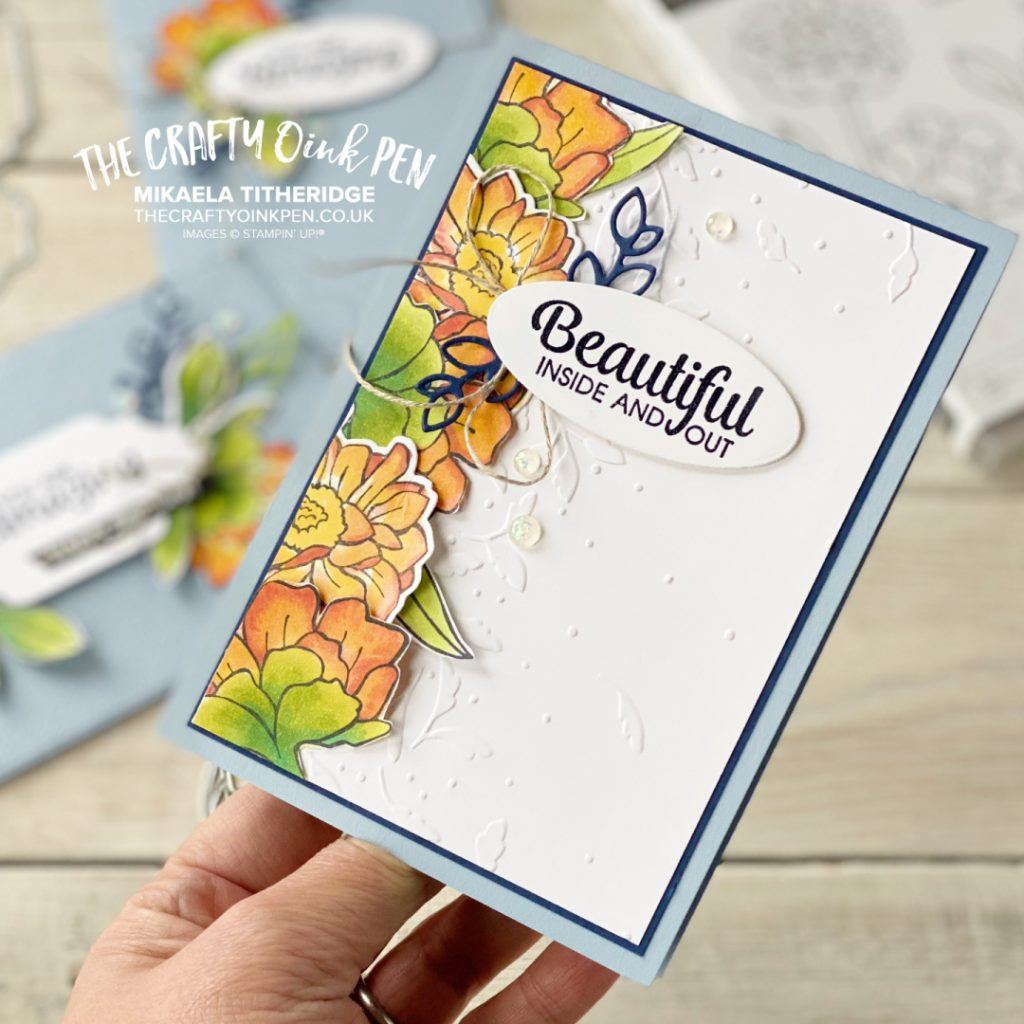 Stampin' Up! Band Together with Greenery Embossing Folder for a floral Birthday Card