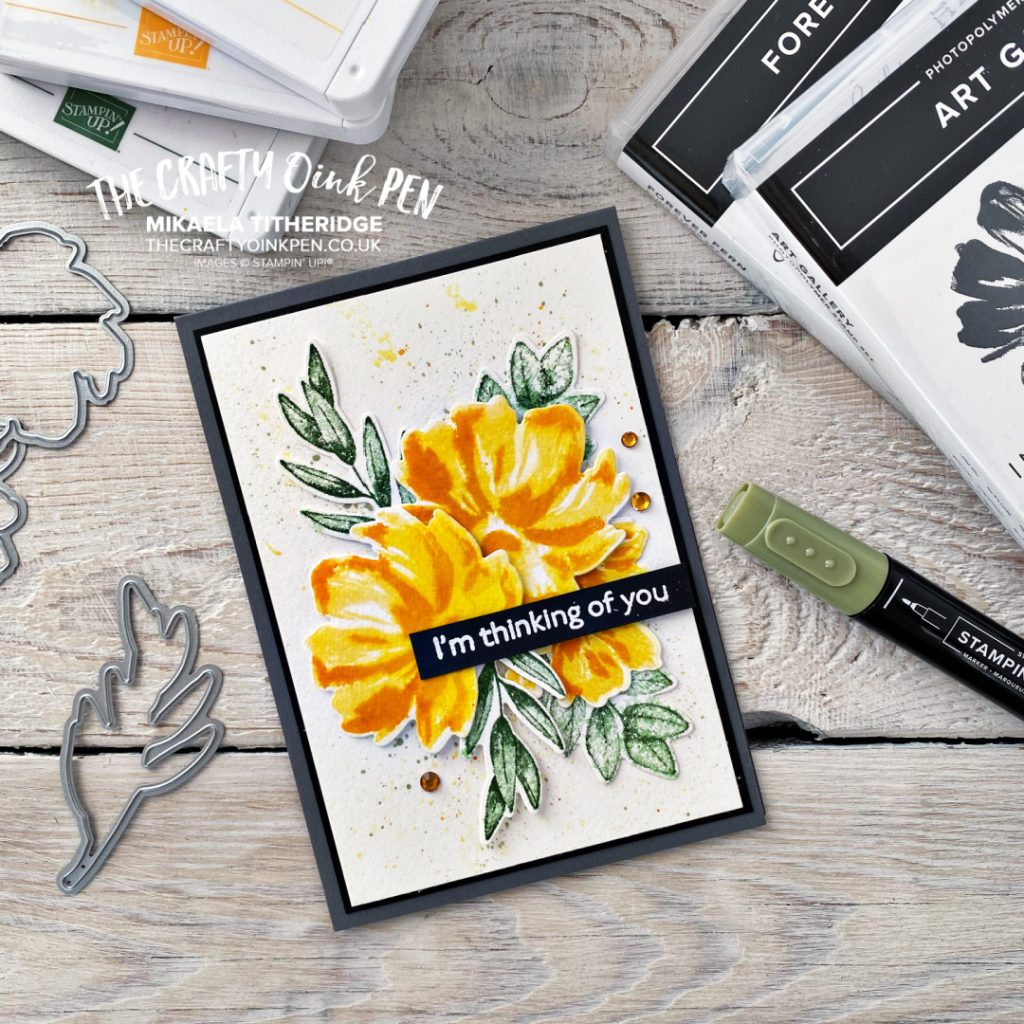 Stampin Up Art Gallery Watercolour Florals for a Colour Inspiration Greetings Card