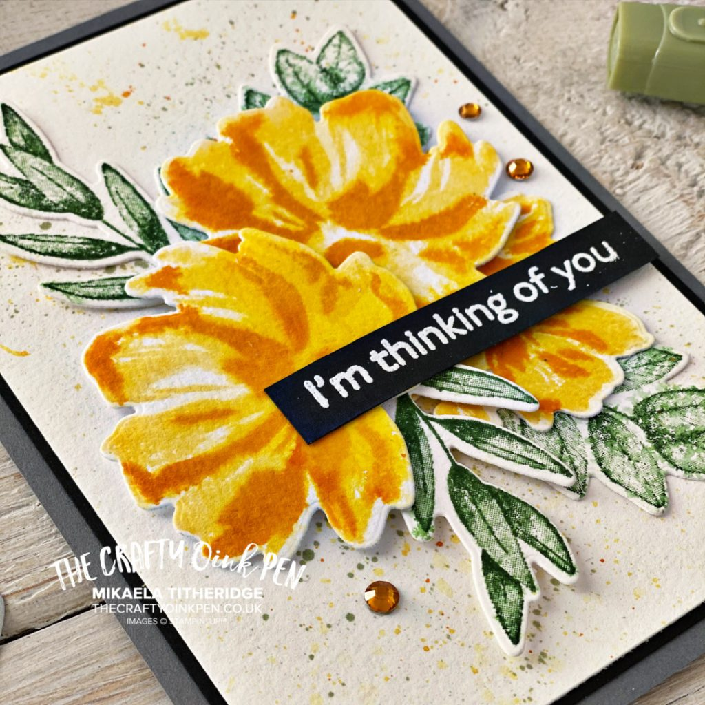 Handmade Greetings card using Art Gallery and Forever Fern by Stampin up