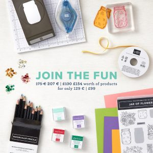 Stampin' Up!  Enhanced starter kit promotion. £154 worth of products for just £99