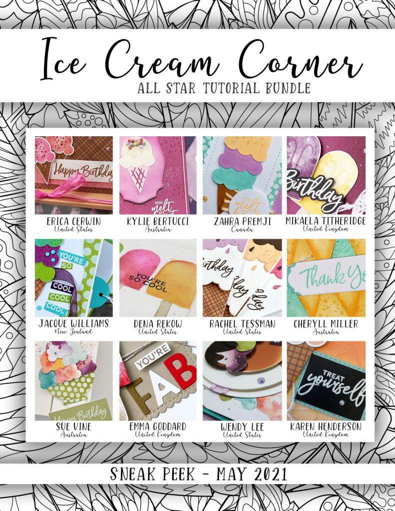 All Star Tutorial Bundle Sneak Peek for the Ice Cream Corner Suite