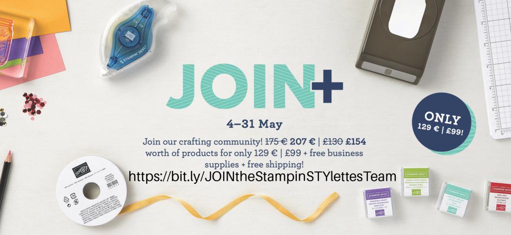 Stampin' Up! Join+ Enhanced Starter Kit Promotion May 2021.