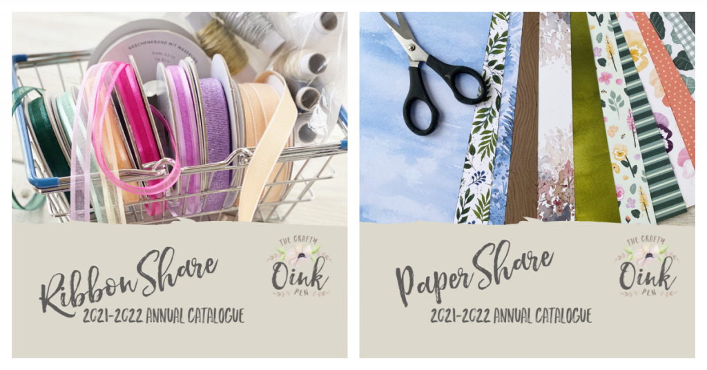 Stampin' Up! annual catalogue ribbon and paper shares