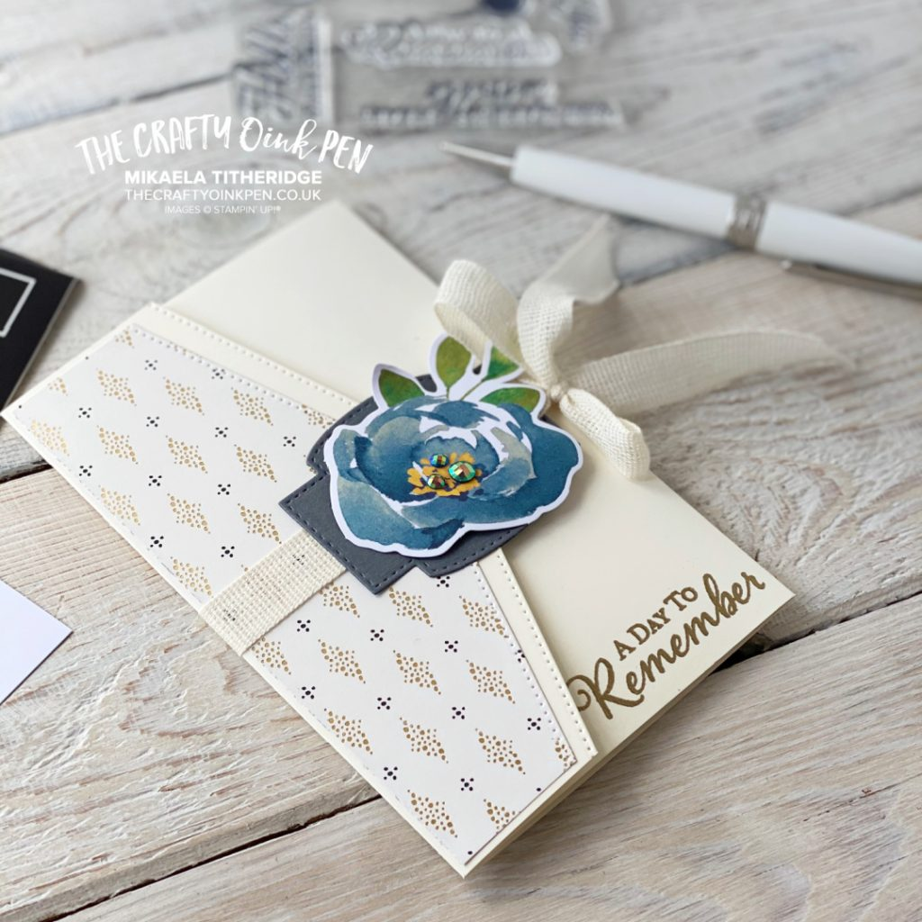 Simply Elegant Fancy Fold Card and Money Wallet combined for the AWOW Blog Hop